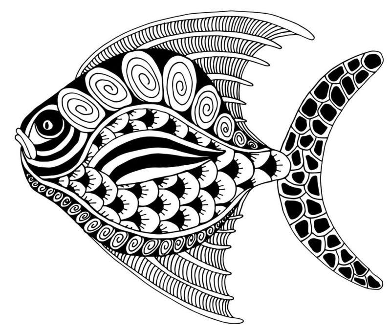 Tangle Zentangle Fish
