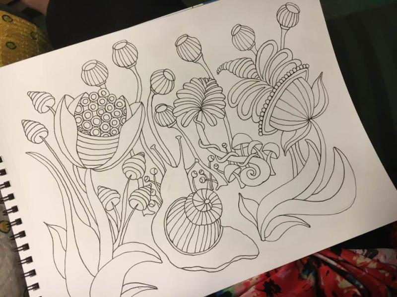 Garden 1 drawing